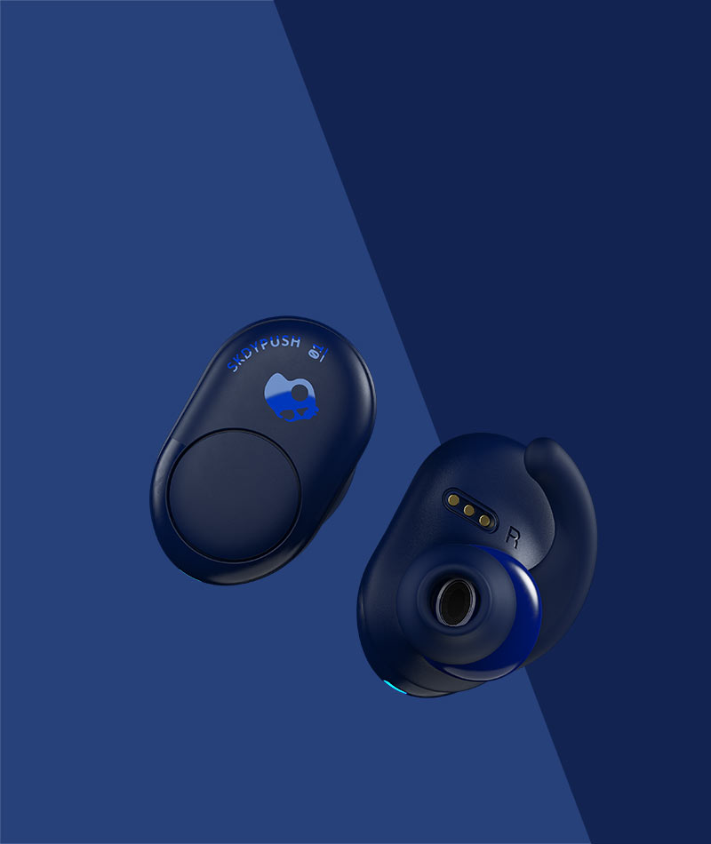 21546014bb9 Push True Wireless Earbuds Push True Wireless Earbuds. $99.99. Indigo.  Psychotropical Teal Gray Day